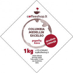 Kava Columbia Medellin Excelso 500g/1kg, pupelės
